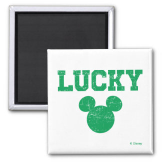 Lucky Mickey Mouse   St. Patrick's Day Magnet