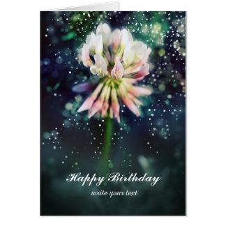 Lucky more clover more flower/luck clover card