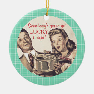 Lucky new pan culinary Christmas ornament
