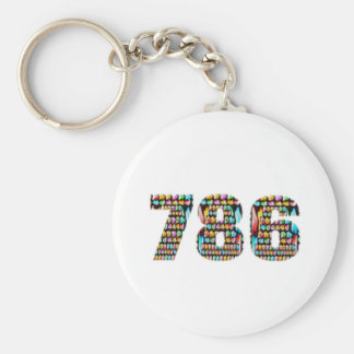 LUCKY no.786 Basic Round Button Key Ring