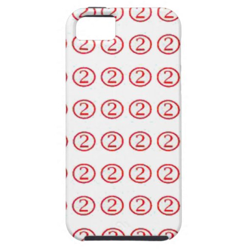 Lucky no. TWO 2 : Red encircled  cadeau pour tous iPhone 5/5S Cover