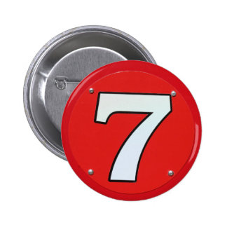 Lucky Number Seven 6 Cm Round Badge