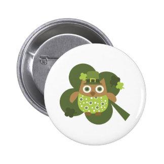 Lucky Owl 6 Cm Round Badge