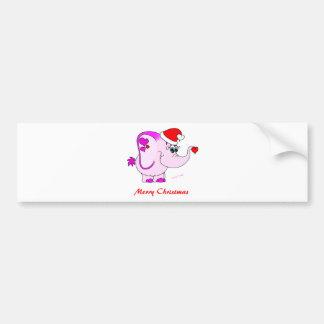 Lucky Pinkie Merry Christmas Bumper Sticker