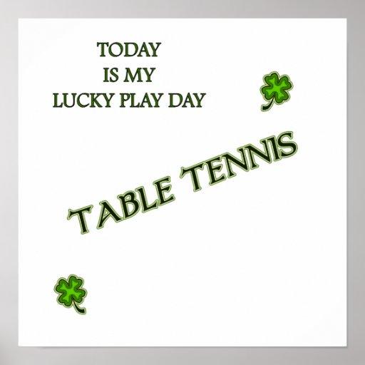 Lucky Play Ping Pong Print