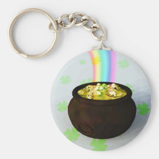 Lucky Pot of Gold Keychain