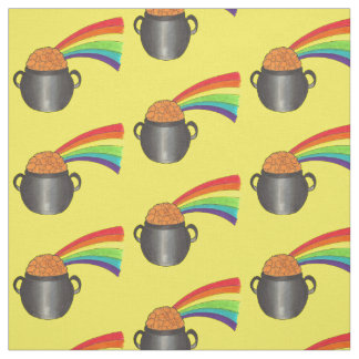 Lucky Pot of Gold Rainbow St. Patrick's Day Fabric
