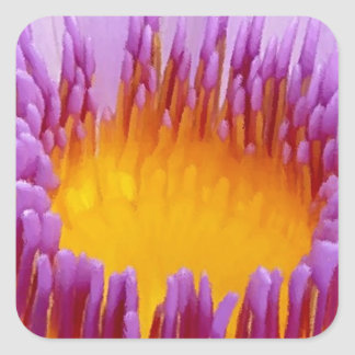Lucky Purple Lotus Flower Water Lily Stickers