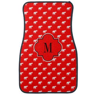 Lucky red Diva Elephants Floor Mat
