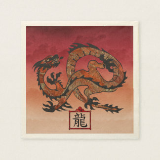 Lucky Red Dragon, 龙 Disposable Serviette
