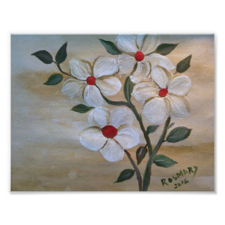 Lucky Red Foursome Wall Flowers Poster