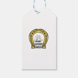 lucky sails in ocean gift tags