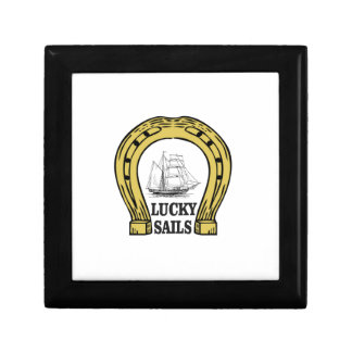 lucky sails in ocean small square gift box