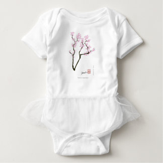 lucky sakura and pink goldfish, tony fernandes baby bodysuit