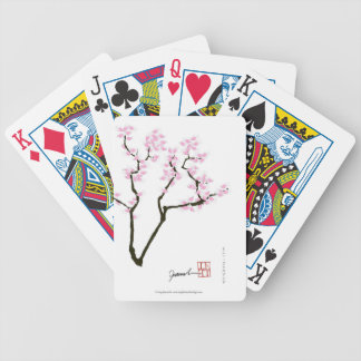 lucky sakura and pink goldfish, tony fernandes bicycle playing cards
