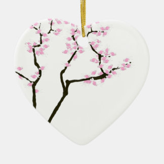 lucky sakura and pink goldfish, tony fernandes ceramic ornament