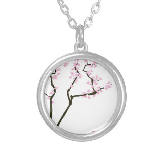 lucky sakura and pink goldfish, tony fernandes silver plated necklace