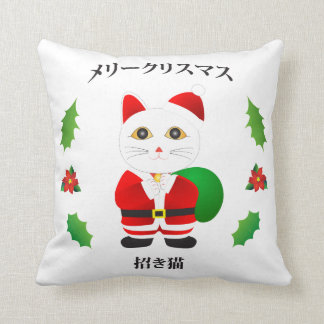 Lucky Santa Cat Cushion