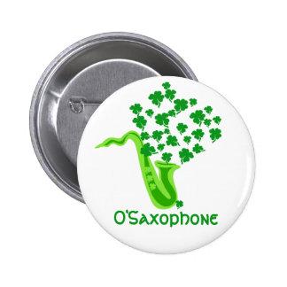 Lucky Saxophone 6 Cm Round Badge