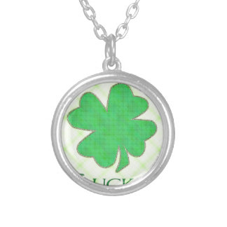 Lucky Shamrock #2 Silver Plated Necklace