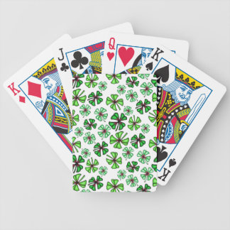 Lucky Shamrock Clover Bicycle Playing Cards