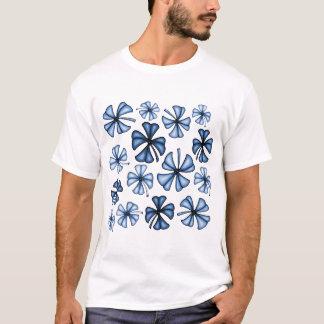 Lucky Shamrock Clover Blue T-Shirt