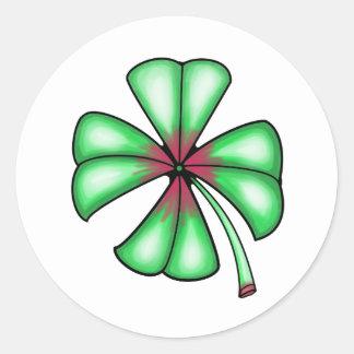 Lucky Shamrock Clover Classic Round Sticker