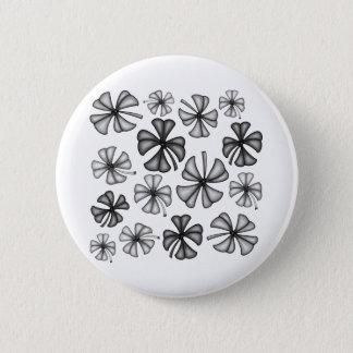 Lucky Shamrock Clover Grey 6 Cm Round Badge