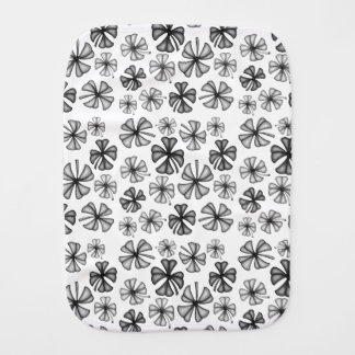 Lucky Shamrock Clover Grey Burp Cloth