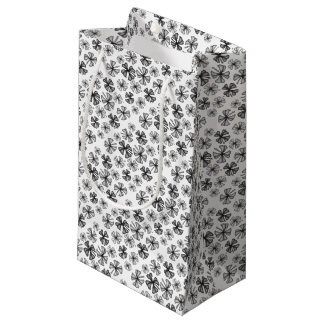 Lucky Shamrock Clover Grey Small Gift Bag
