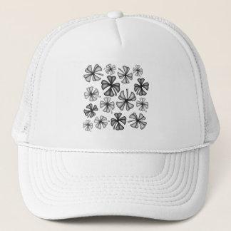 Lucky Shamrock Clover Grey Trucker Hat