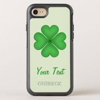 Lucky Shamrock Clover Leaf Hearts Customisable OtterBox Symmetry iPhone 7 Case