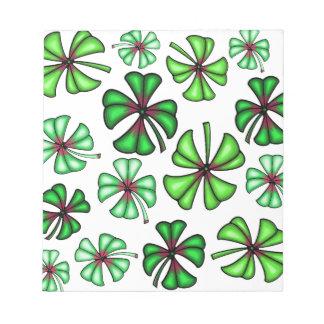 Lucky Shamrock Clover Notepad