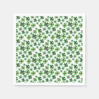 Lucky Shamrock Clover Paper Napkins