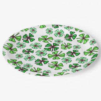 Lucky Shamrock Clover Paper Plate