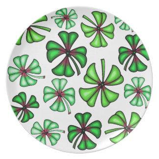 Lucky Shamrock Clover Plate