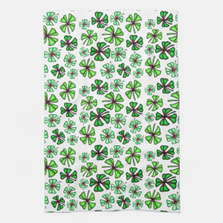 Lucky Shamrock Clover Tea Towel