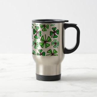 Lucky Shamrock Clover Travel Mug