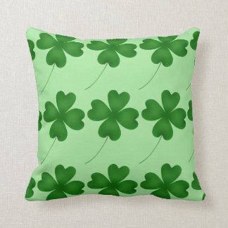 Lucky shamrock design cushion