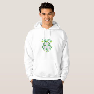 Lucky Shamrock Funny St Patricks Day Gift Hoodie