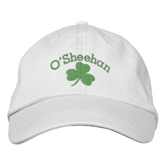 Lucky Shamrock Irish Green Personalized Embroidered Hat