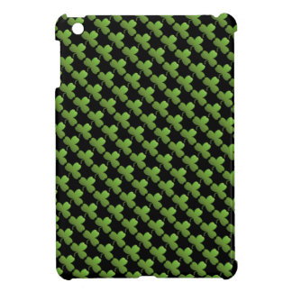 Lucky Shamrock Pattern, Black and Green Case For The iPad Mini