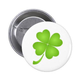 Lucky Shamrock Pinback Buttons