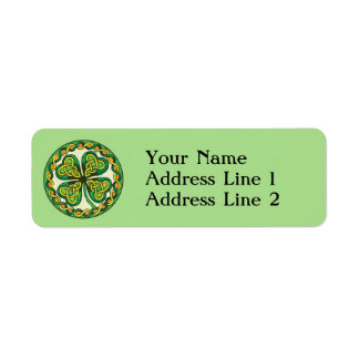Lucky Shamrock Return Address Label