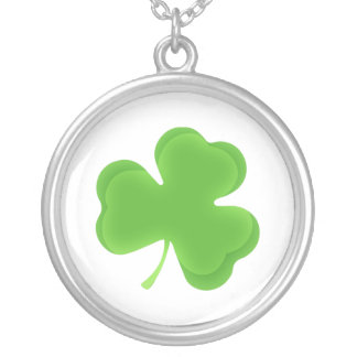 Lucky Shamrock Silver Plated Necklace