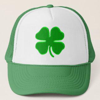 lucky shamrock trucker hat