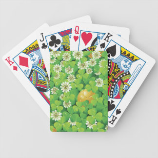 Lucky shamrocks bicycle playing cards