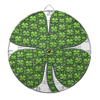 Lucky Shamrocks Dartboard With Darts