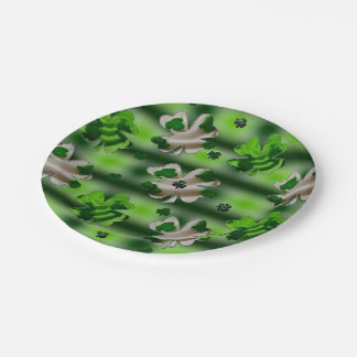 Lucky Shamrocks Paper Plate