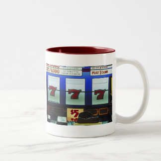 Lucky Slot Machine Winner Two-Tone Coffee Mug